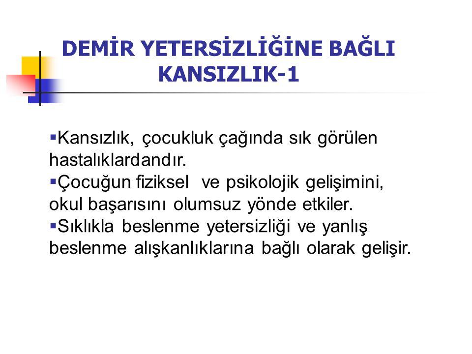 DEMİR YETERSİZLİĞİNE BAĞLI KANSIZLIK-1