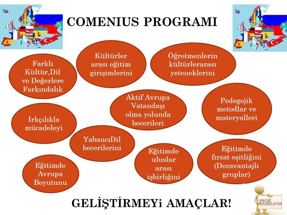 COMENIUS PROGRAMI GELİŞTİRMEYi AMAÇLAR!
