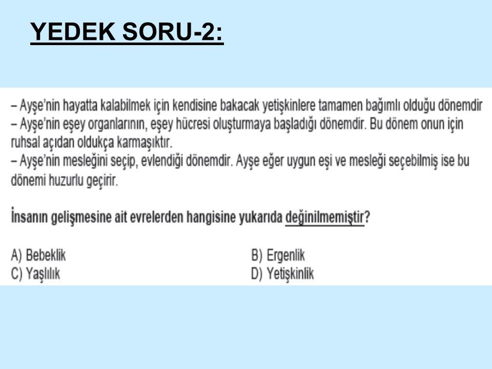 YEDEK SORU-2: