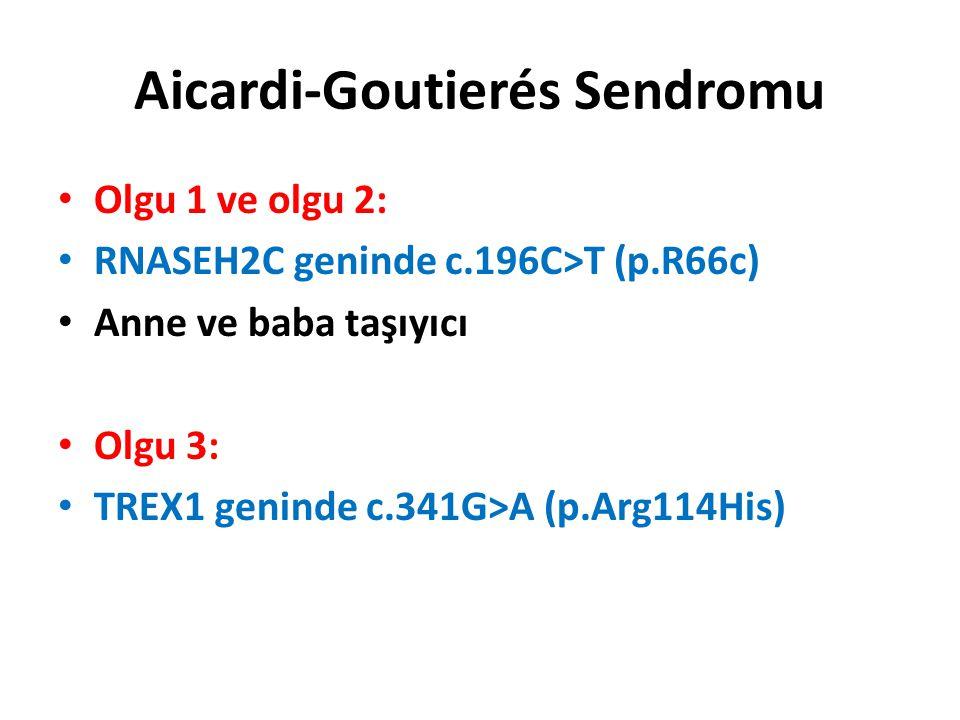 Aicardi-Goutierés Sendromu
