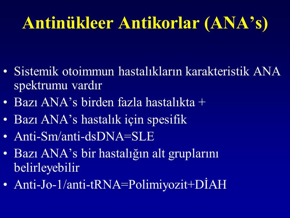 Antinükleer Antikorlar (ANA's)