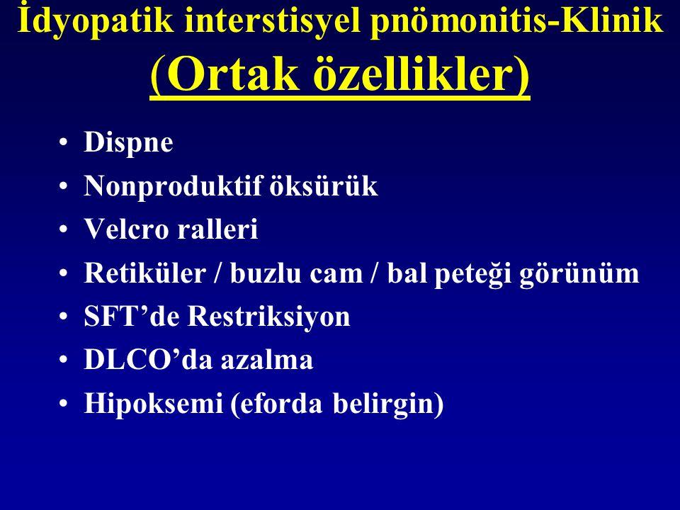 İdyopatik interstisyel pnömonitis-Klinik (Ortak özellikler)