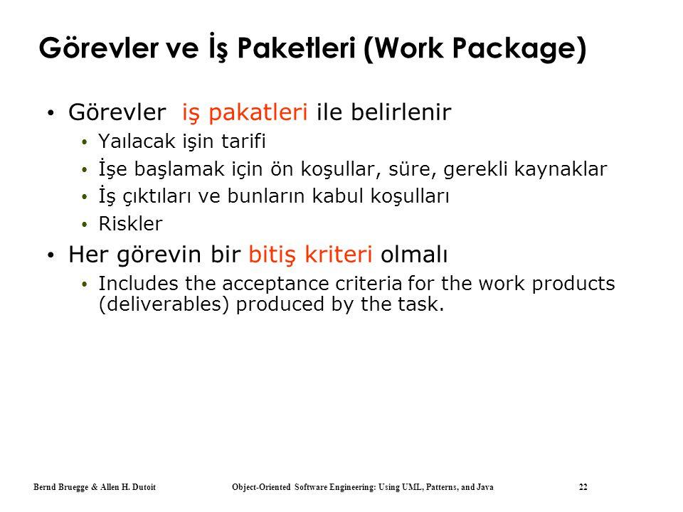 Görevler ve İş Paketleri (Work Package)