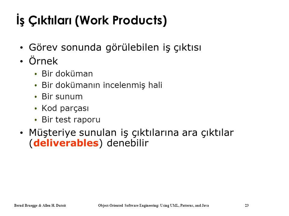 İş Çıktıları (Work Products)