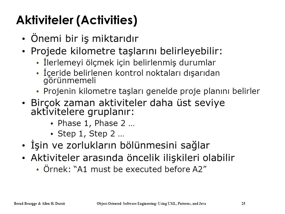 Aktiviteler (Activities)