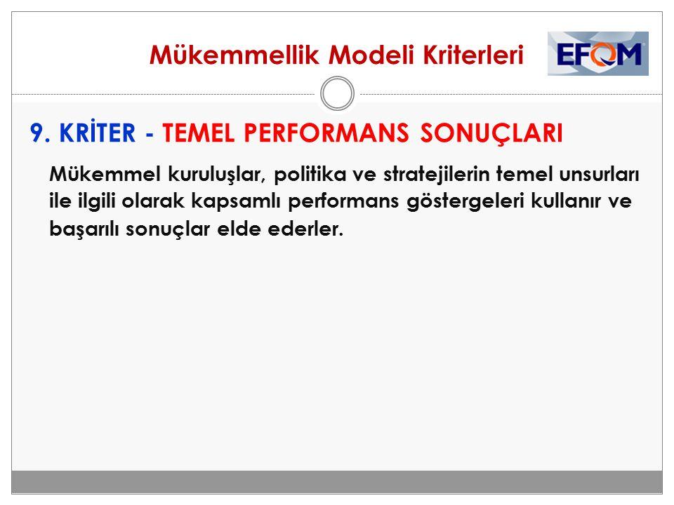 Mükemmellik Modeli Kriterleri