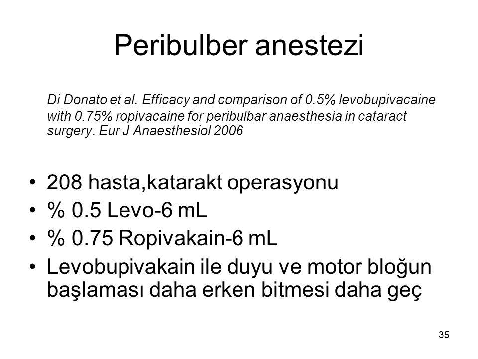 Peribulber anestezi