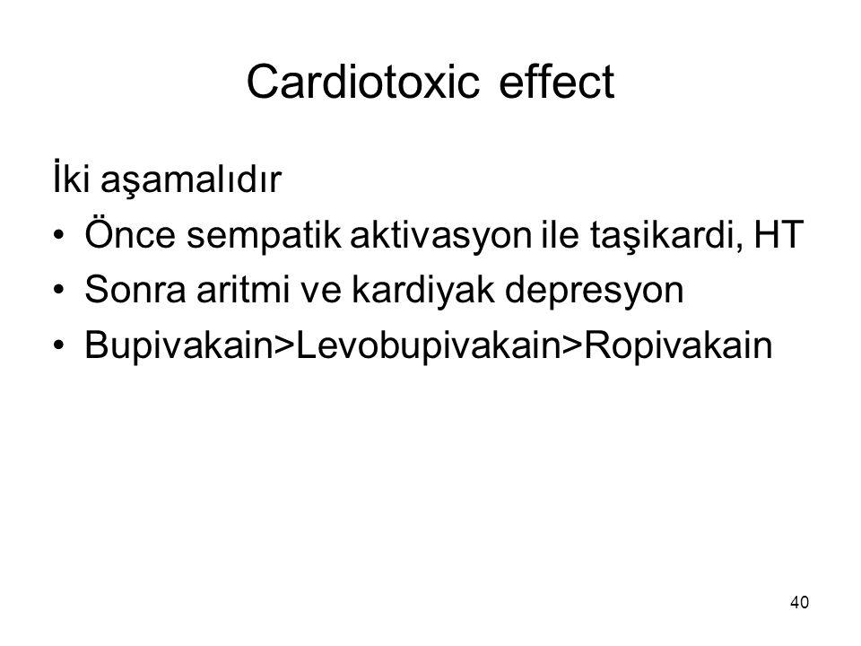 Cardiotoxic effect İki aşamalıdır