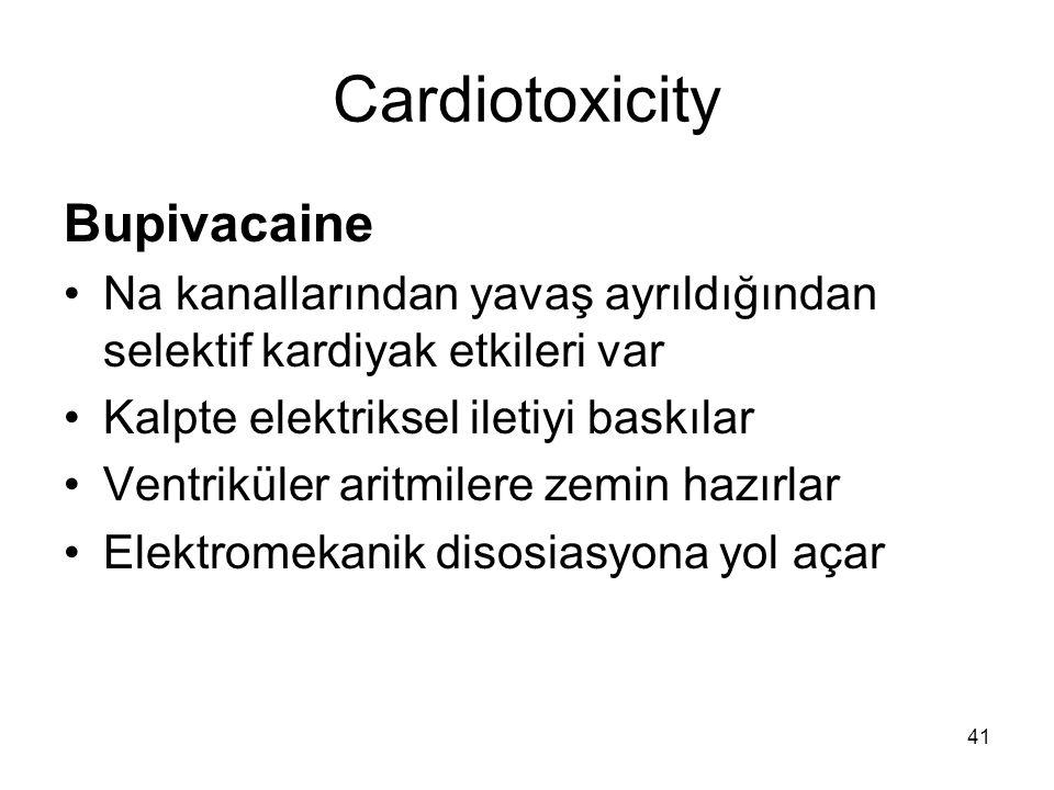 Cardiotoxicity Bupivacaine