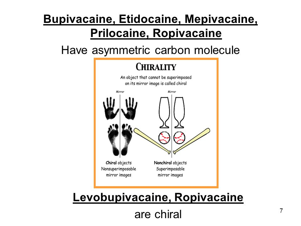 Bupivacaine, Etidocaine, Mepivacaine, Prilocaine, Ropivacaine