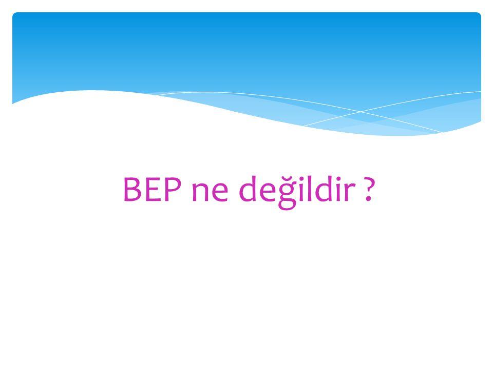 BEP ne değildir