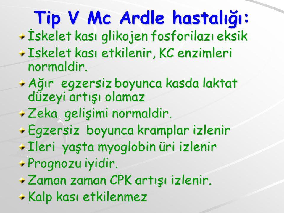Tip V Mc Ardle hastalığı:
