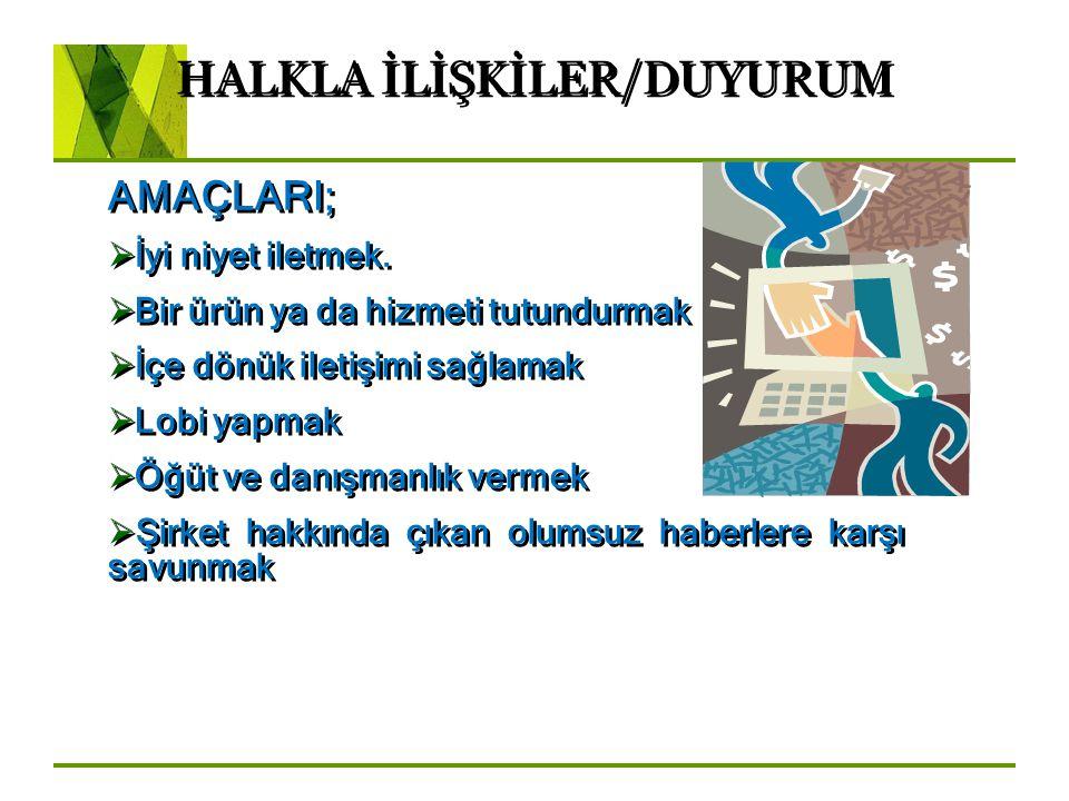 HALKLA İLİŞKİLER/DUYURUM