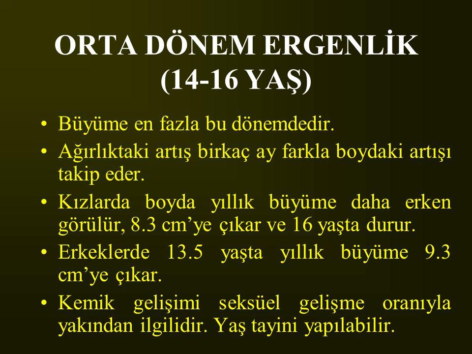 ORTA DÖNEM ERGENLİK (14-16 YAŞ)