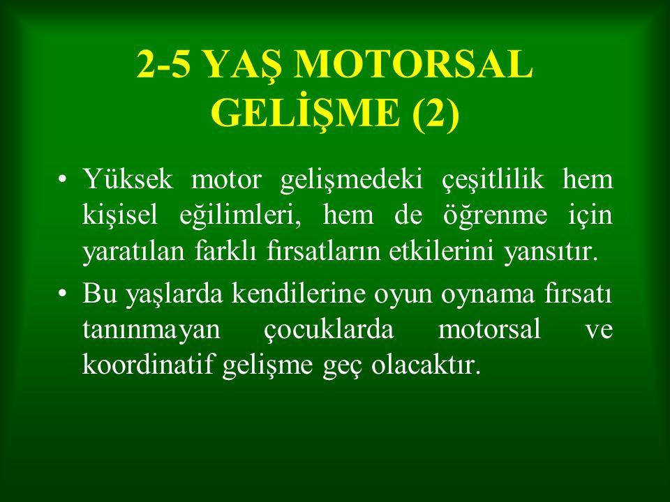 2-5 YAŞ MOTORSAL GELİŞME (2)