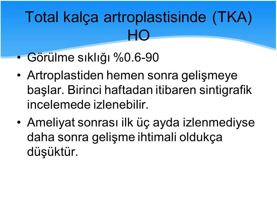 Total kalça artroplastisinde (TKA) HO