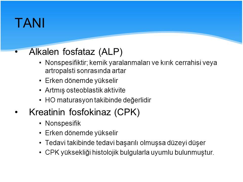 TANI Alkalen fosfataz (ALP) Kreatinin fosfokinaz (CPK)