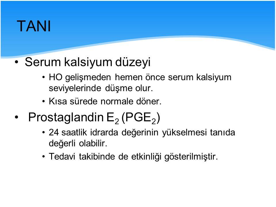 TANI Serum kalsiyum düzeyi Prostaglandin E2 (PGE2)