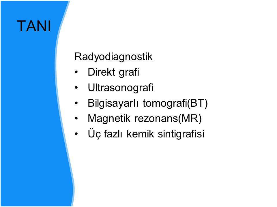 TANI Radyodiagnostik Direkt grafi Ultrasonografi