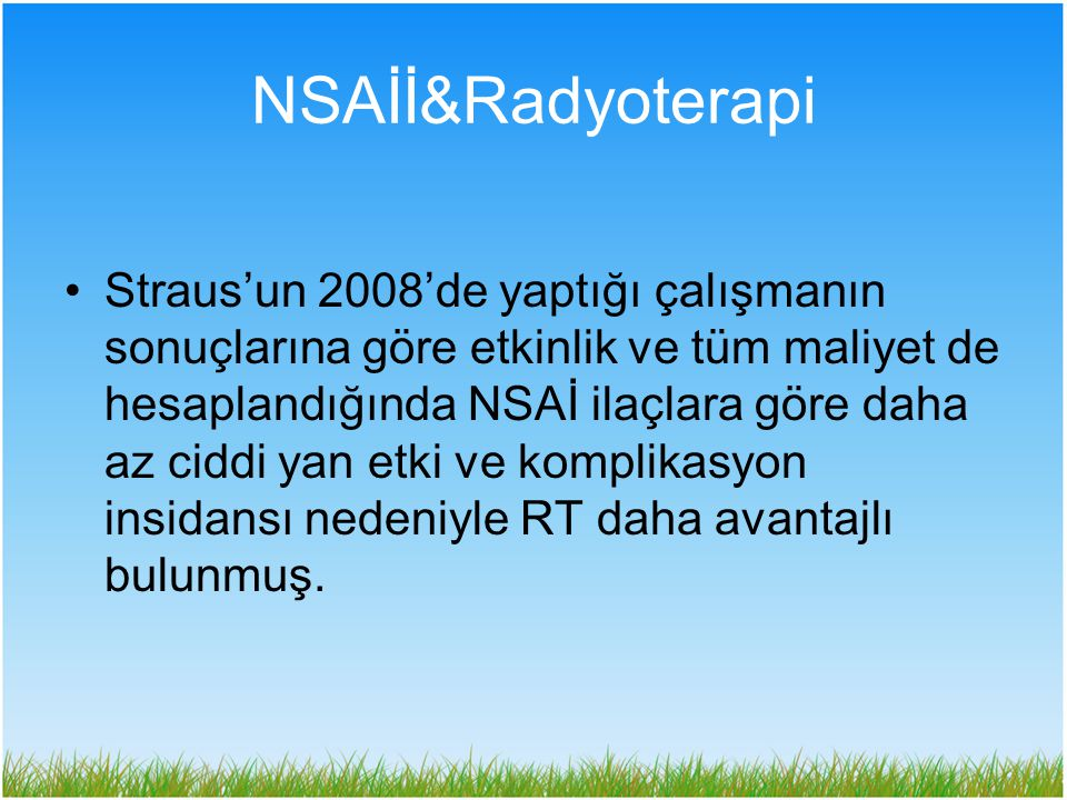 NSAİİ&Radyoterapi