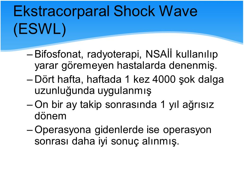 Ekstracorparal Shock Wave (ESWL)