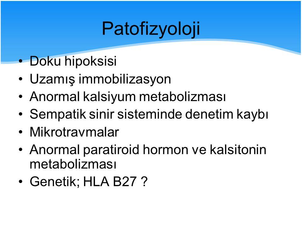 Patofizyoloji Doku hipoksisi Uzamış immobilizasyon