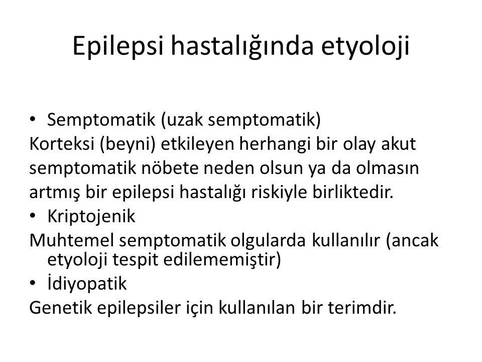 Epilepsi hastalığında etyoloji