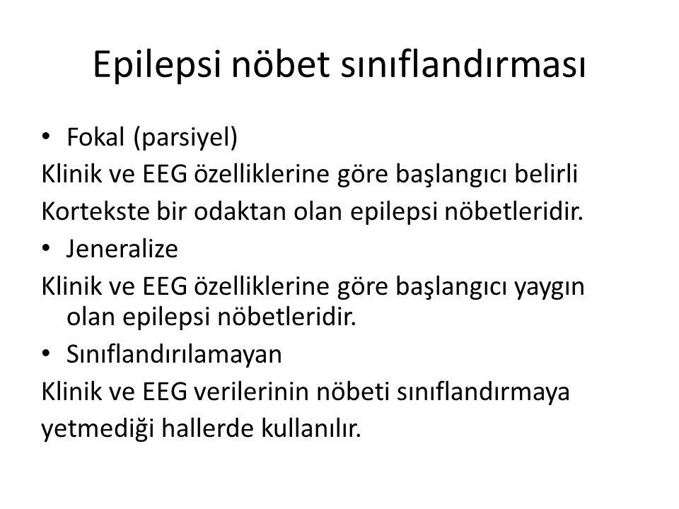 Epilepsi nöbet sınıflandırması