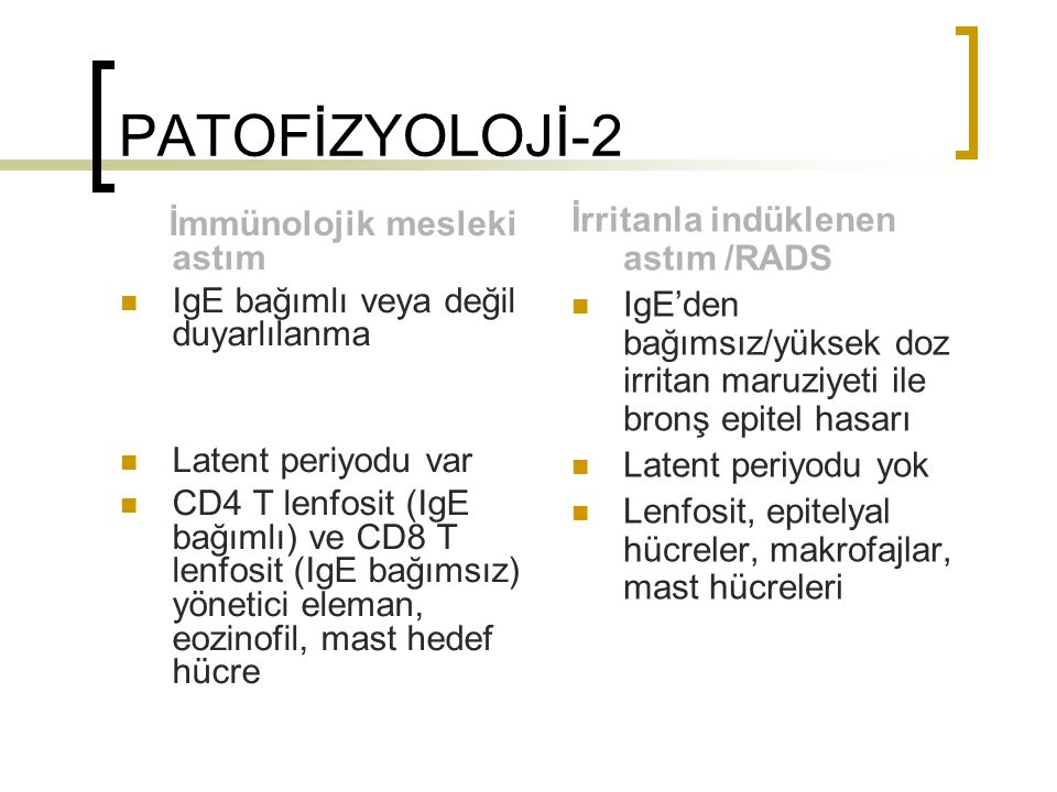 PATOFİZYOLOJİ-2 İrritanla indüklenen astım /RADS