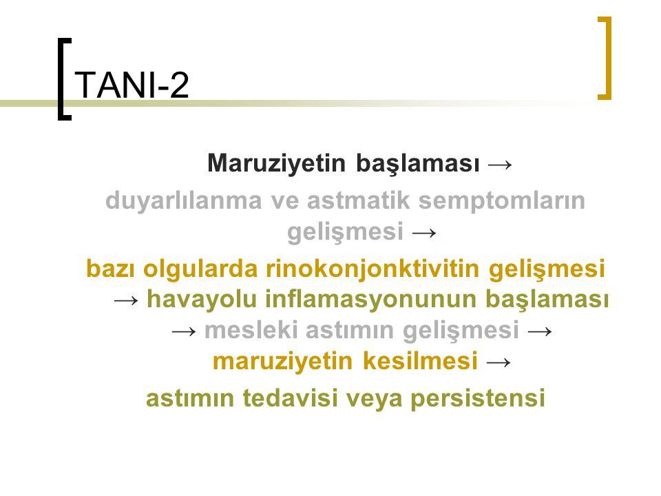 TANI-2 Maruziyetin başlaması →