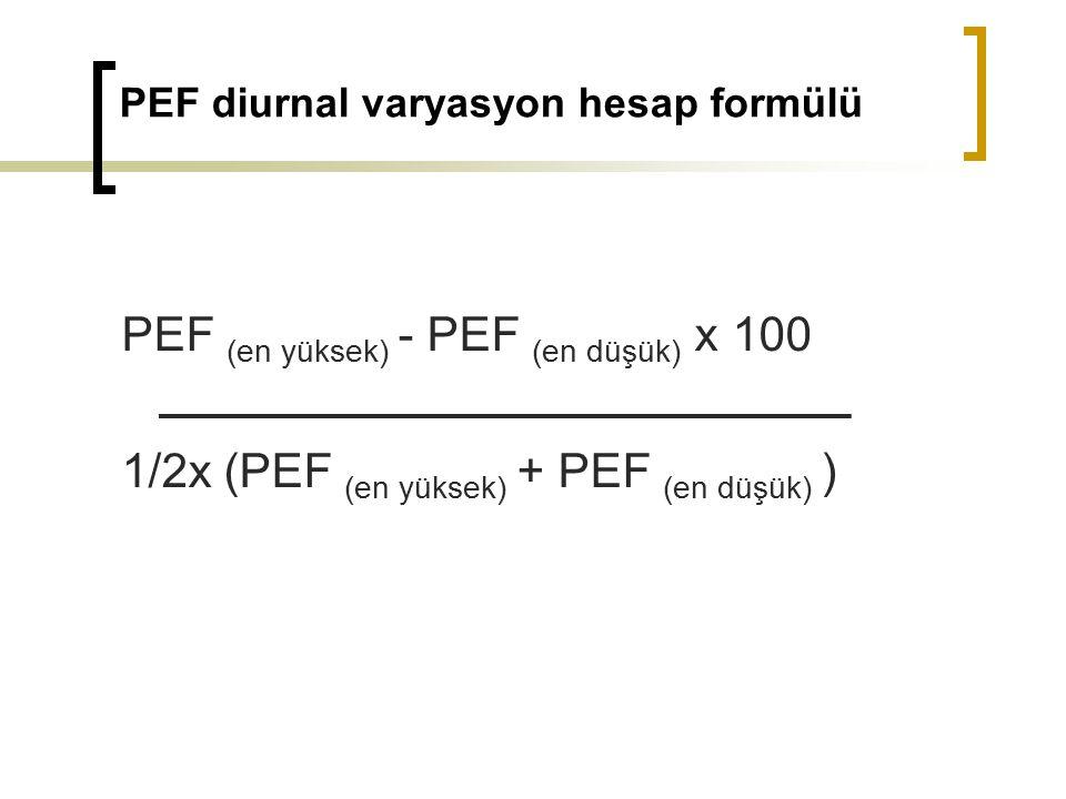 PEF diurnal varyasyon hesap formülü