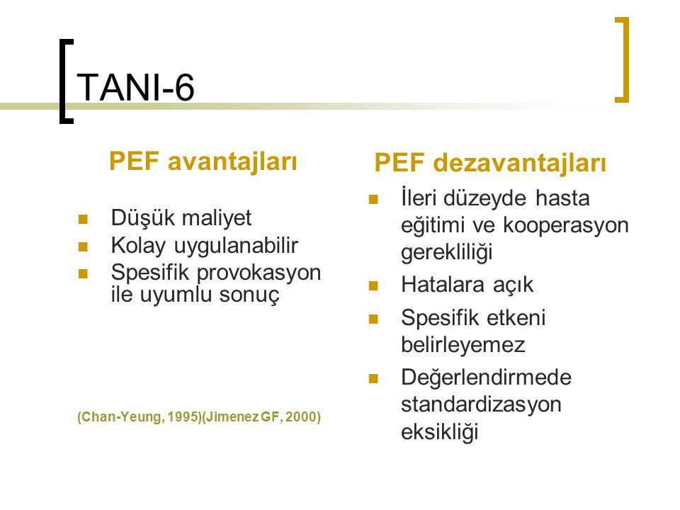 TANI-6 PEF dezavantajları PEF avantajları