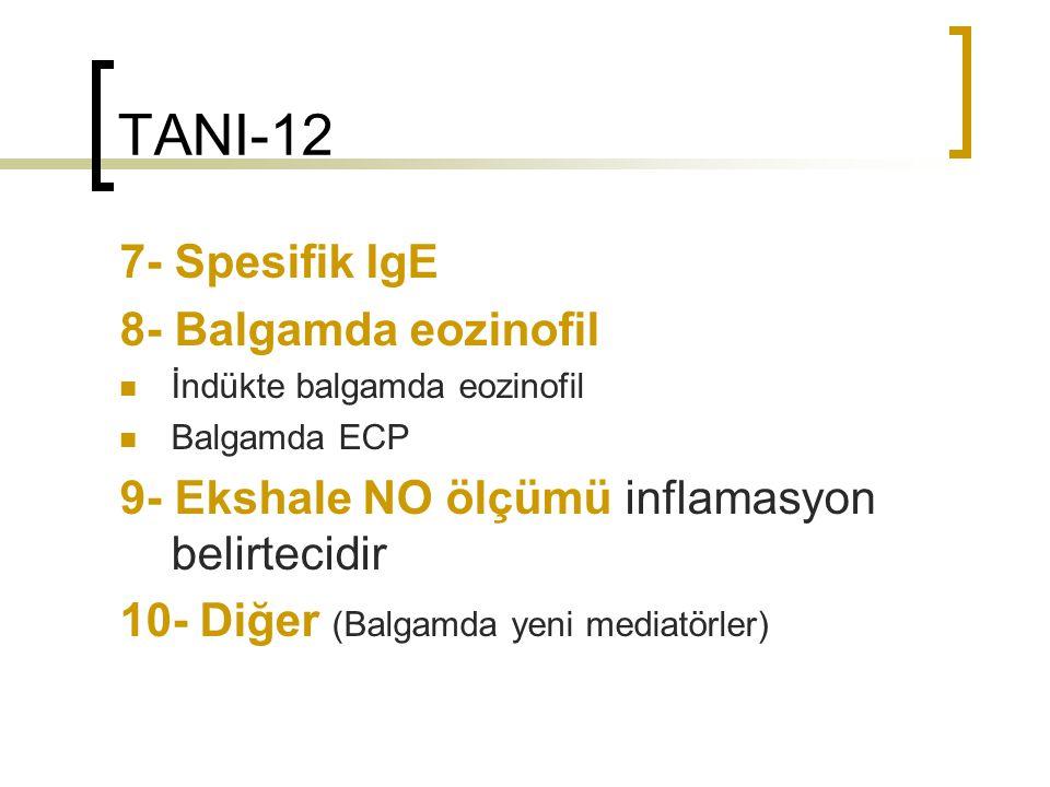 TANI-12 7- Spesifik IgE 8- Balgamda eozinofil