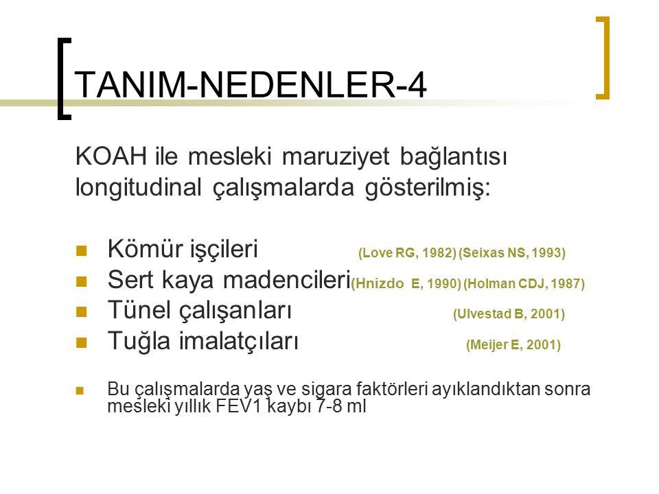 TANIM-NEDENLER-4 KOAH ile mesleki maruziyet bağlantısı