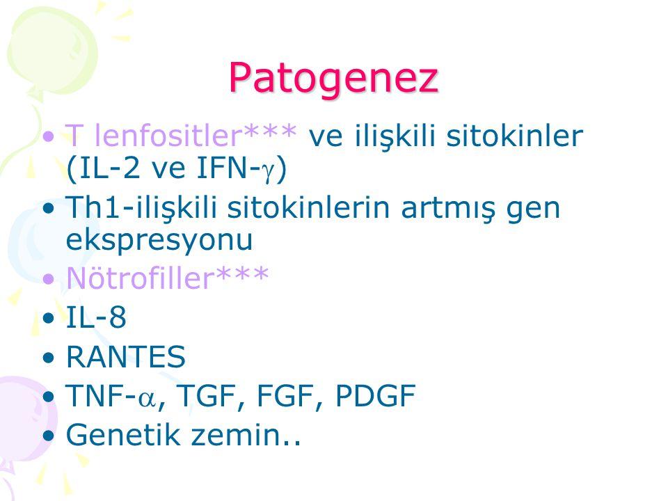 Patogenez T lenfositler*** ve ilişkili sitokinler (IL-2 ve IFN-)