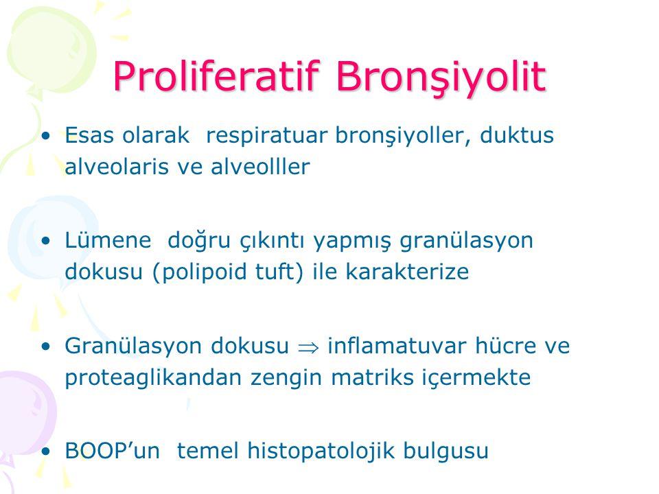 Proliferatif Bronşiyolit