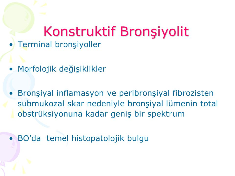 Konstruktif Bronşiyolit
