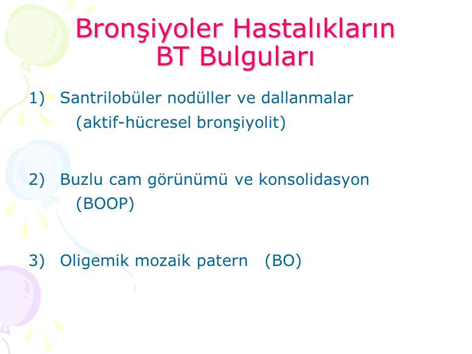 Bronşiyoler Hastalıkların BT Bulguları