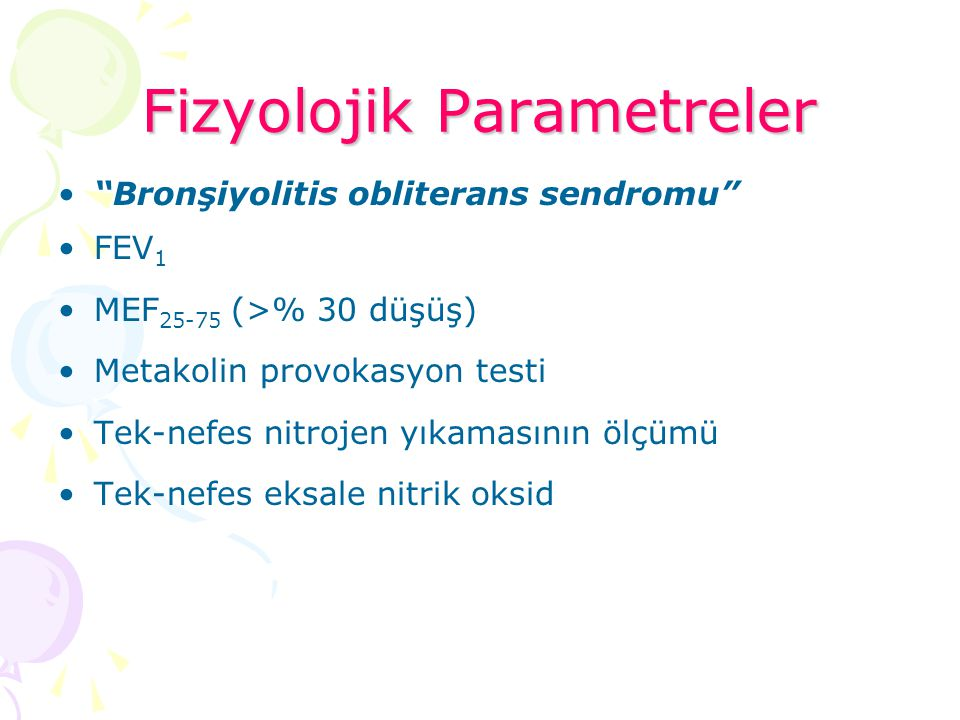 Fizyolojik Parametreler
