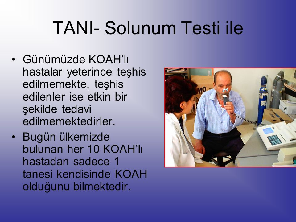 TANI- Solunum Testi ile