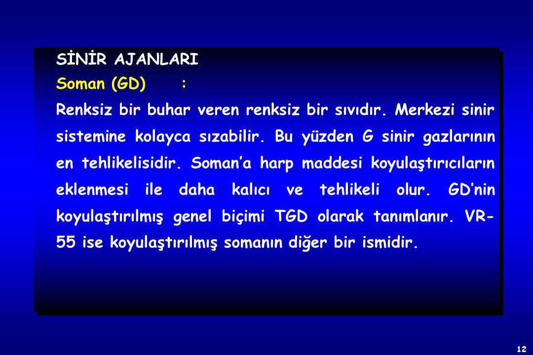 SİNİR AJANLARI Soman (GD) :