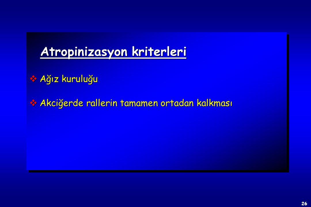 Atropinizasyon kriterleri