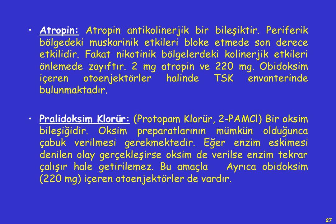Atropin: Atropin antikolinerjik bir bileşiktir