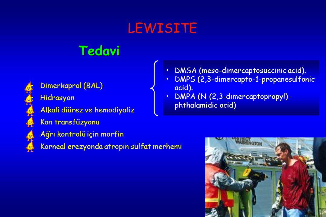 LEWISITE Tedavi DMSA (meso-dimercaptosuccinic acid).
