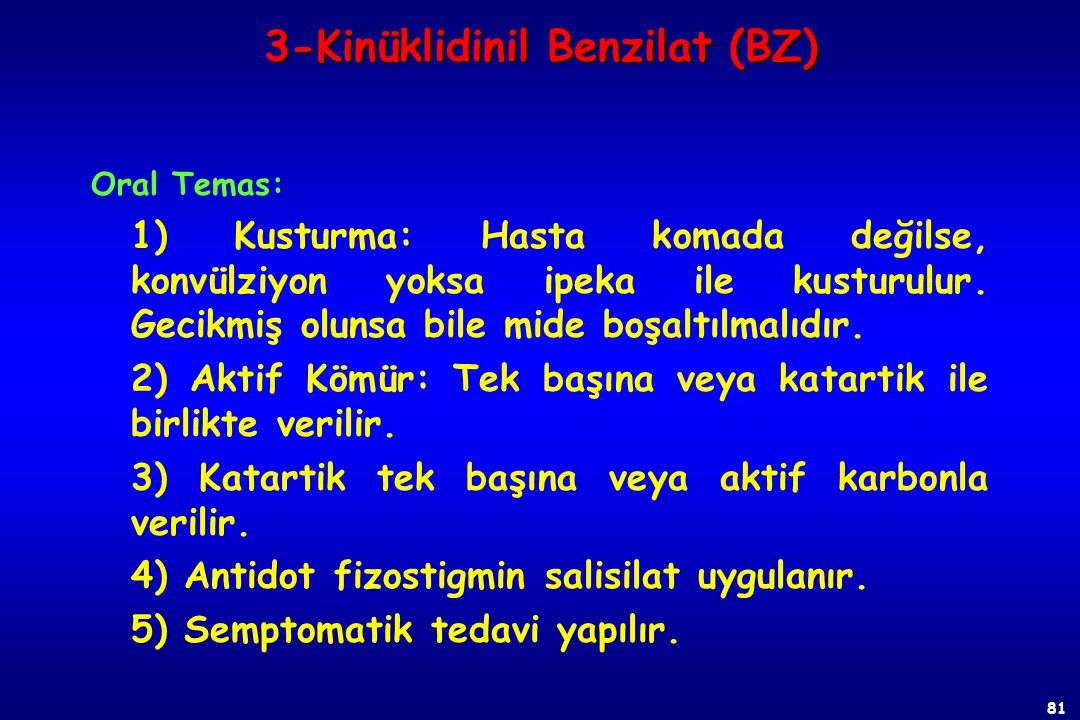 3-Kinüklidinil Benzilat (BZ)