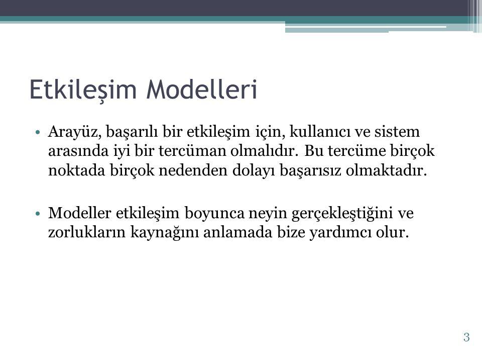 Etkileşim Modelleri