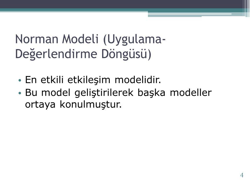 Norman Modeli (Uygulama-Değerlendirme Döngüsü)