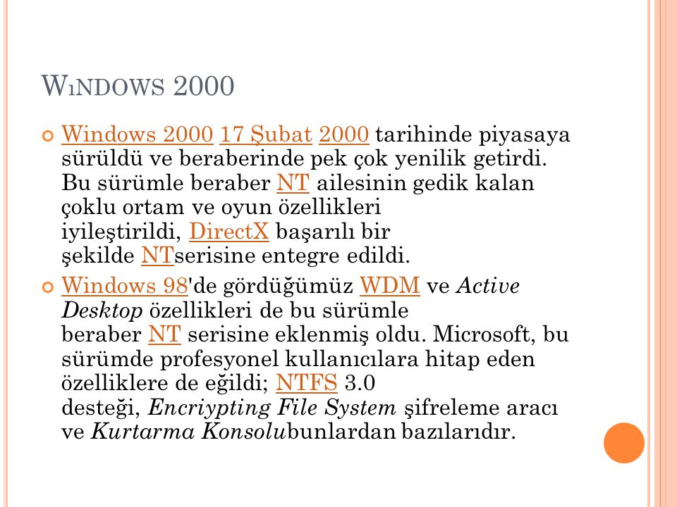 Wındows 2000