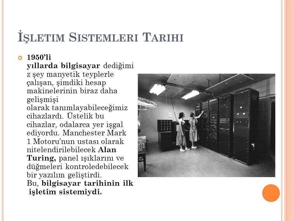 İşletim Sistemleri Tarihi