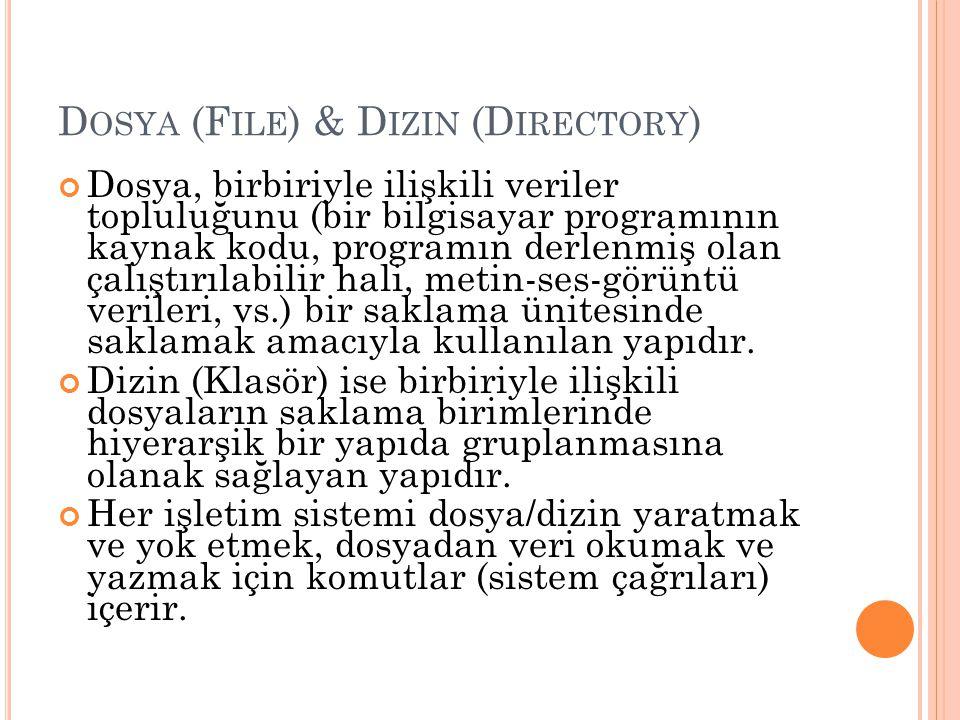 Dosya (File) & Dizin (Directory)